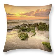 Naples Sunset Throw Pillow