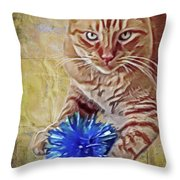Napoleon And The Bow Throw Pillow