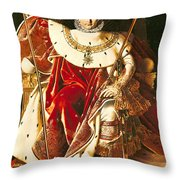 Napoleon I On The Imperial Throne Throw Pillow