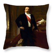 Napoleon IIi 1808 73 Throw Pillow