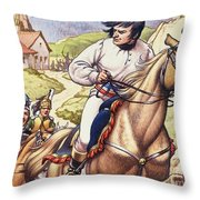 Napoleon Making A Narrow Escape With An Austrian Cavalry Patrol Close On His Heels Throw Pillow