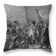 Napoleon Returns From Elba Throw Pillow