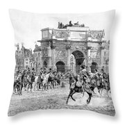 Napoleon Reviewing His Troops Throw Pillow