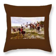 Napoleon Watching The Battle Of Friedland Throw Pillow
