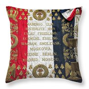Napoleonic Flag Throw Pillow