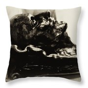 Napoleon's Death Mask Throw Pillow