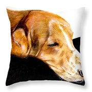Napping Nadine Throw Pillow