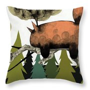 Napping Squirrel Throw Pillow