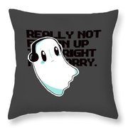 Napstablook Throw Pillow
