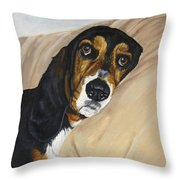 Naptime - Bassett Throw Pillow