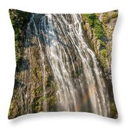 Narada Falls Rainbow Throw Pillow