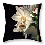 Narcissus And The Bee 2 Throw Pillow by Daniele Smith
