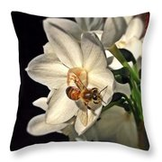 Narcissus And The Bee 3 Throw Pillow