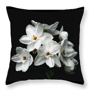 Narcissus The Breath Of Spring Throw Pillow