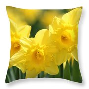 Narcissus Meadows Throw Pillow