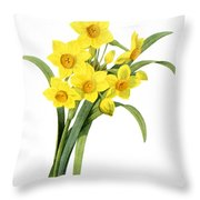 Narcissus (n. Tazetta) Throw Pillow