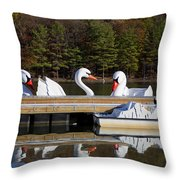 Narcissus' November Throw Pillow by Joanna Madloch