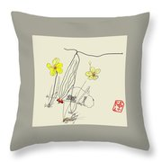 Narcissus  With Cricket Throw Pillow