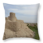 Narin Qaleh Narin Castle, Iran Throw Pillow