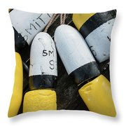 Narragansett Buoys Throw Pillow