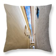 Narrow Alley In Cusco Throw Pillow