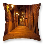 Narrow Alley  Throw Pillow
