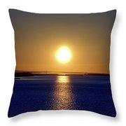 Narrow Bay V Throw Pillow