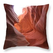 Narrow Canyon Xvii Throw Pillow