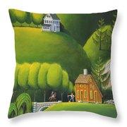 Narrow Foothills Throw Pillow