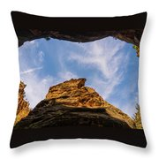 Narrows Sky Zion National Park Utah Throw Pillow