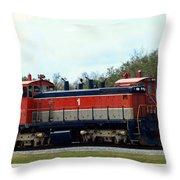 Nasa Space Shuttle Railroad Throw Pillow