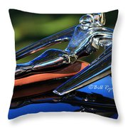 Nash Ambassador Hood Ornament  Throw Pillow