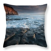 Nash Point South Wales Throw Pillow