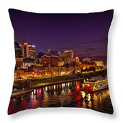 Nashville And General Jackson Throw Pillow