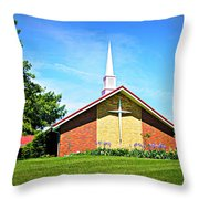 Nashville Baptist Church Throw Pillow