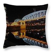 Nashville Bridge Throw Pillow