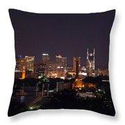Nashville Cityscape 2 Throw Pillow