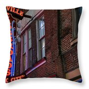 Nashville Crossroads Music City  Throw Pillow