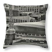 Nashville Downtown Throw Pillow