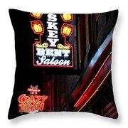 Nashville Neon Signs  Throw Pillow