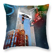 Nashville Nights 02 Throw Pillow