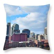 Nashville Panorama View Throw Pillow