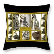 Nashville Signs In Sepia Throw Pillow
