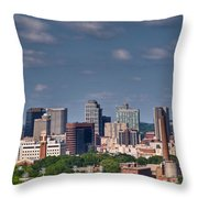 Nashville Skyline 1 Throw Pillow by Douglas Barnett