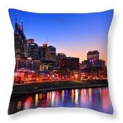 Nashville Southern Nights Throw Pillow