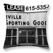 Nashville Sporting Goods Throw Pillow