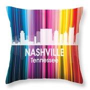 Nashville Tn 2 Squared Throw Pillow