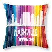 Nashville Tn 2 Vertical Throw Pillow