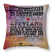 Nashville Tn V1 Throw Pillow