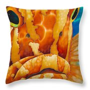 Nassau Grouper  Throw Pillow by Daniel Jean-Baptiste